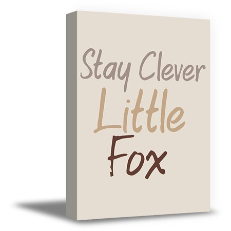 Canvas Nursery Art (Awkward Styles Stay Clever Little Fox Canvas Decor Motivational Quotes Art for Kids Baby Nursery Room Kids Play Room Girls Bedroom Wall Art Stay Clever Little Fox Funny Quotes for Children Framed Art)