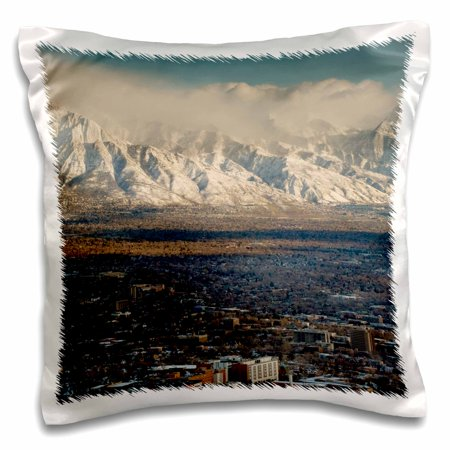3Drose Wasatch Mountains  Salt Lake City  Utah  Usa   Us45 Hga0339   Howie Garber  Pillow Case  16 By 16 Inch
