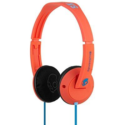 skullcandy uprock headphones, red, one-size
