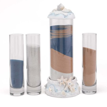 Le Prise 4 Piece Seashell Sand Ceremony](Blended Family Sand Ceremony Sets)