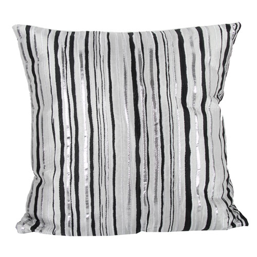 Black and Gray 20-Inch Decorative Pillow