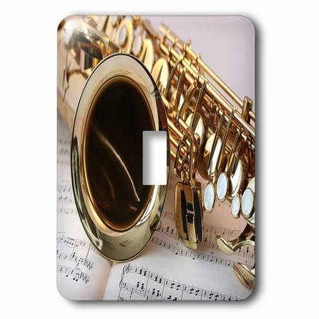 3dRose Print of Close Up Of Saxophone On Sheet Music, 2 Plug