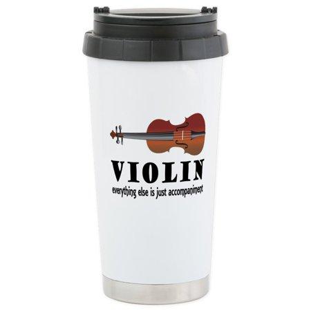 CafePress - Violin Humor Music Stainless Steel Travel Mug - Stainless Steel Travel Mug, Insulated 16 oz. Coffee - This Is Halloween Music Box Tumblr
