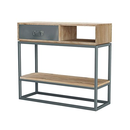 ASTA Teak and Iron Storage Console Table - Simplicity, TI-501 ()