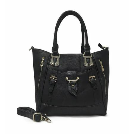 Double Buckle Tote - Sorrentino Women's Handbag No. 736 Double Zip Tote