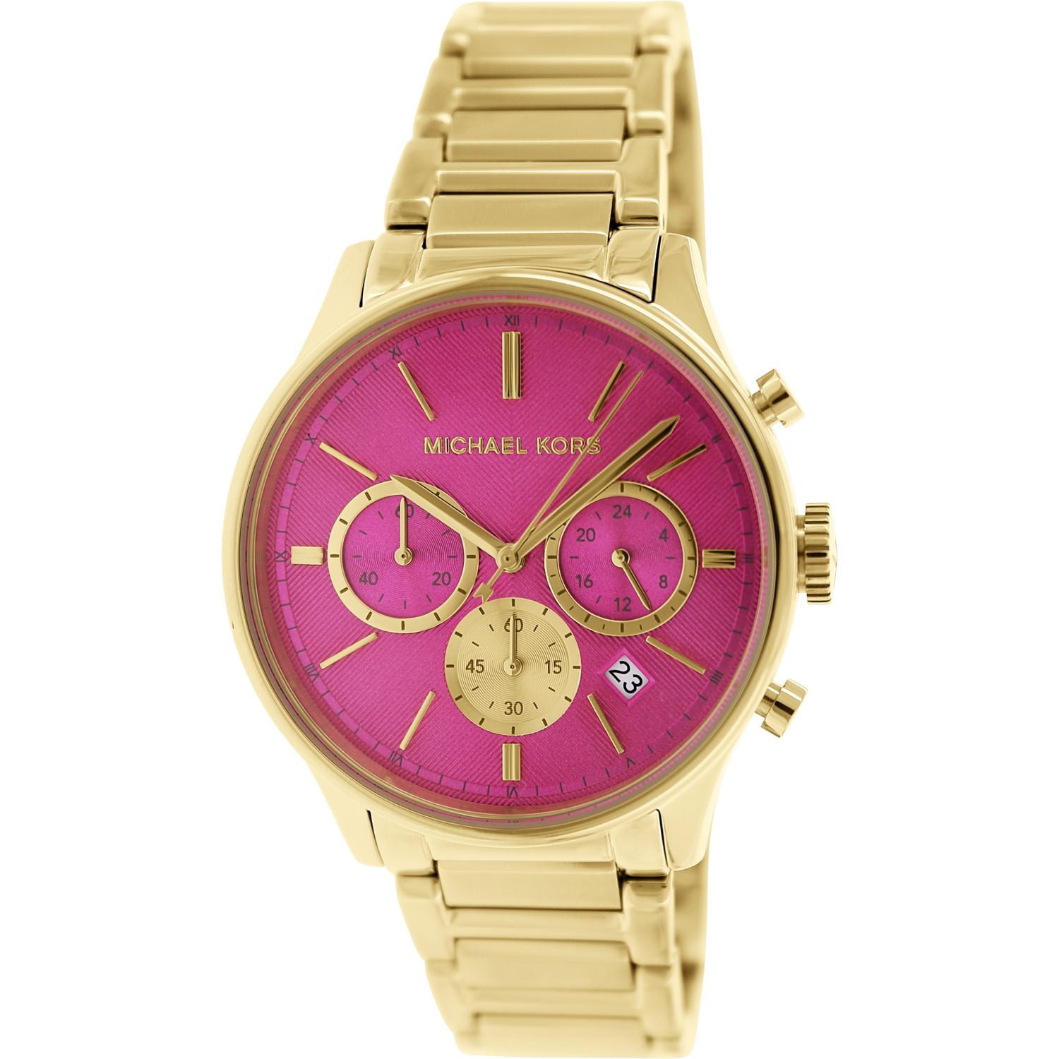 Michael Kors Bailey Ladies Watch - Gold/Hot Pink