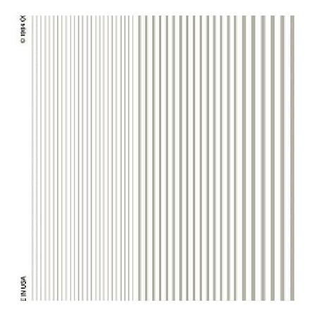Woodland Scenics Dry Transfer Decals Stripes White