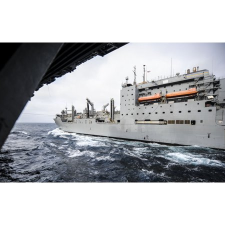 Military Sealift Command Ships - LAMINATED POSTER The Military Sealift Command dry cargo and ammunition ship USNS Alan Shepard (T-AKE 3) is underway a Poster Print 24 x 36