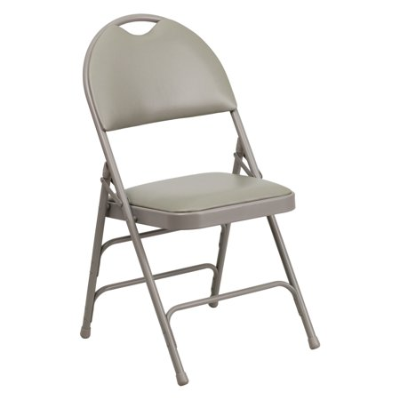 Flash Furniture HERCULES Series Extra Large Ultra-Premium Triple Braced Fabric Metal Folding Chair with Easy-Carry Handle, Multiple Colors