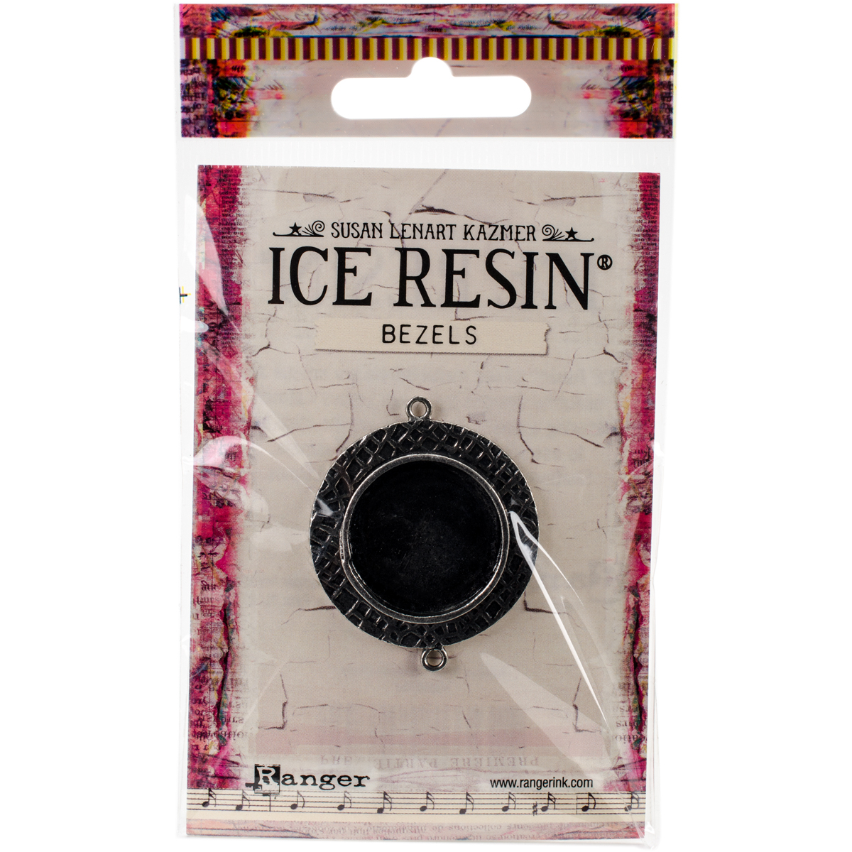 Ice Resin Milan Bezels Closed Back Circle Medium-Antique Silver