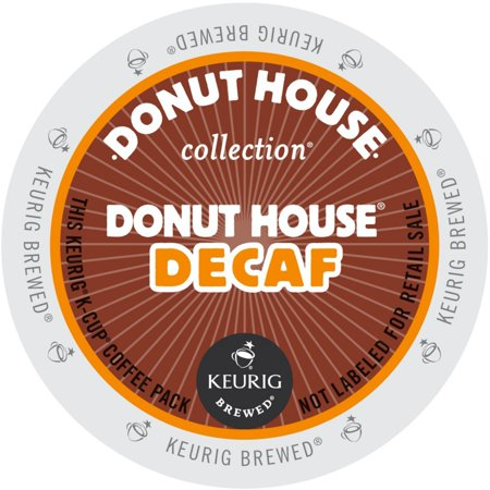 Donut House Collection Donut House Decaf Coffee, K-Cup Portion Pack for Keurig Brewers (24 Count) (1x16oz)