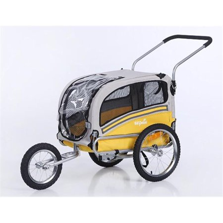 Sepnine 20303-Yellow Medium Pet Dog Trailer & Jogger, Yellow
