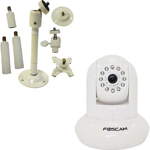 Foscam fi8910W Camera with Foscam Mount Bracket, 2pk, White