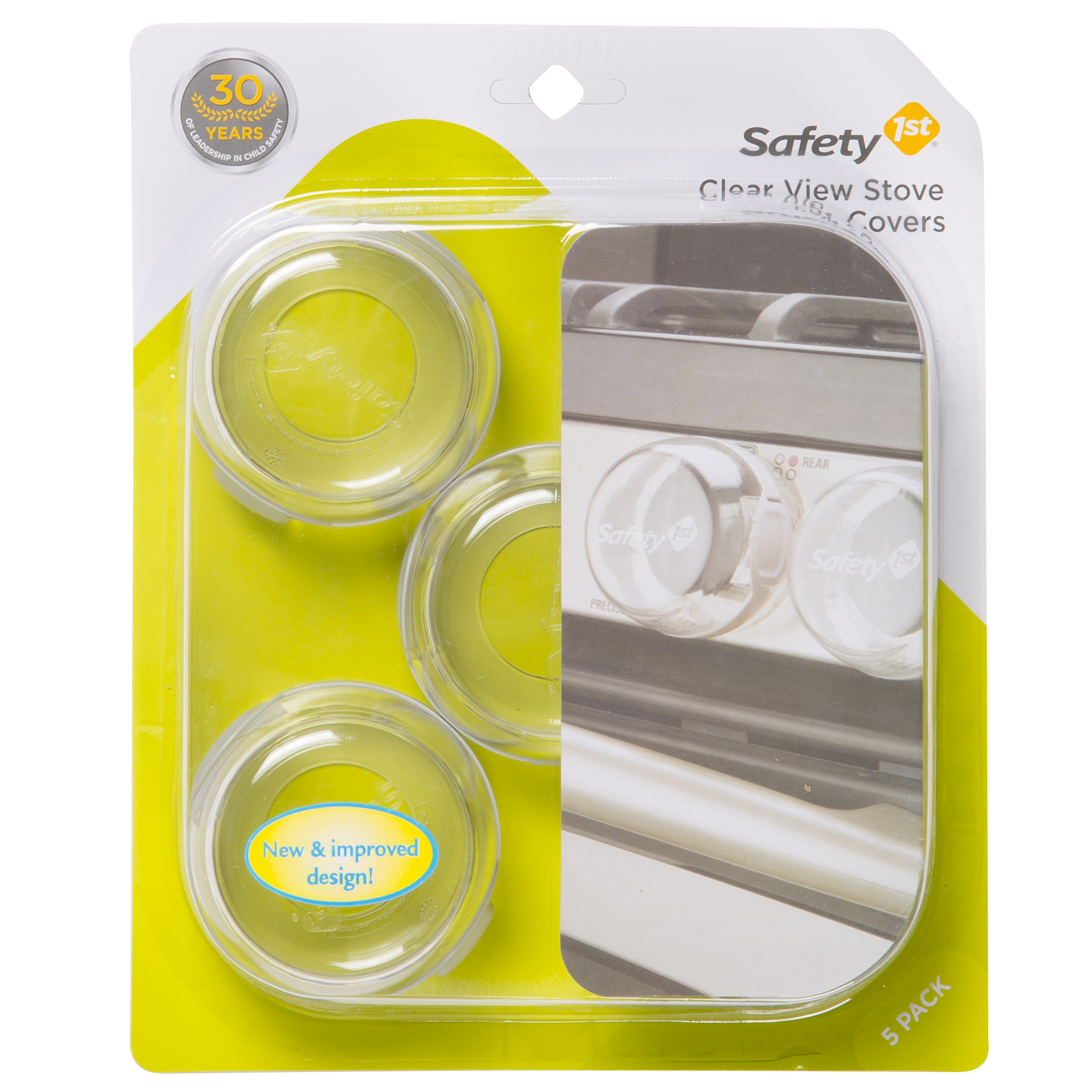 Safety 1ˢᵗ Clear View Stove Knob Covers, Clear