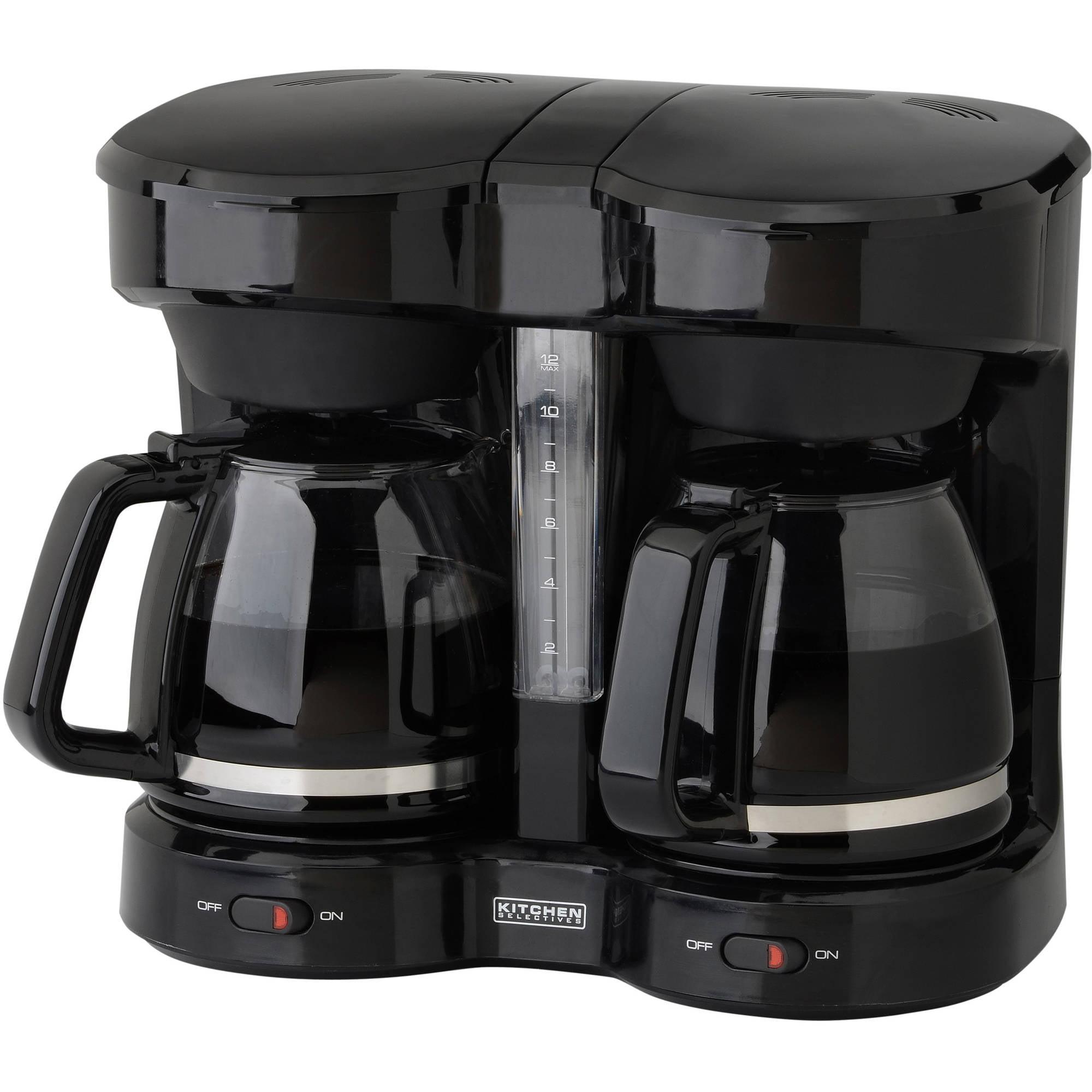 Kitchen Selectives Dual Coffee Maker, Black