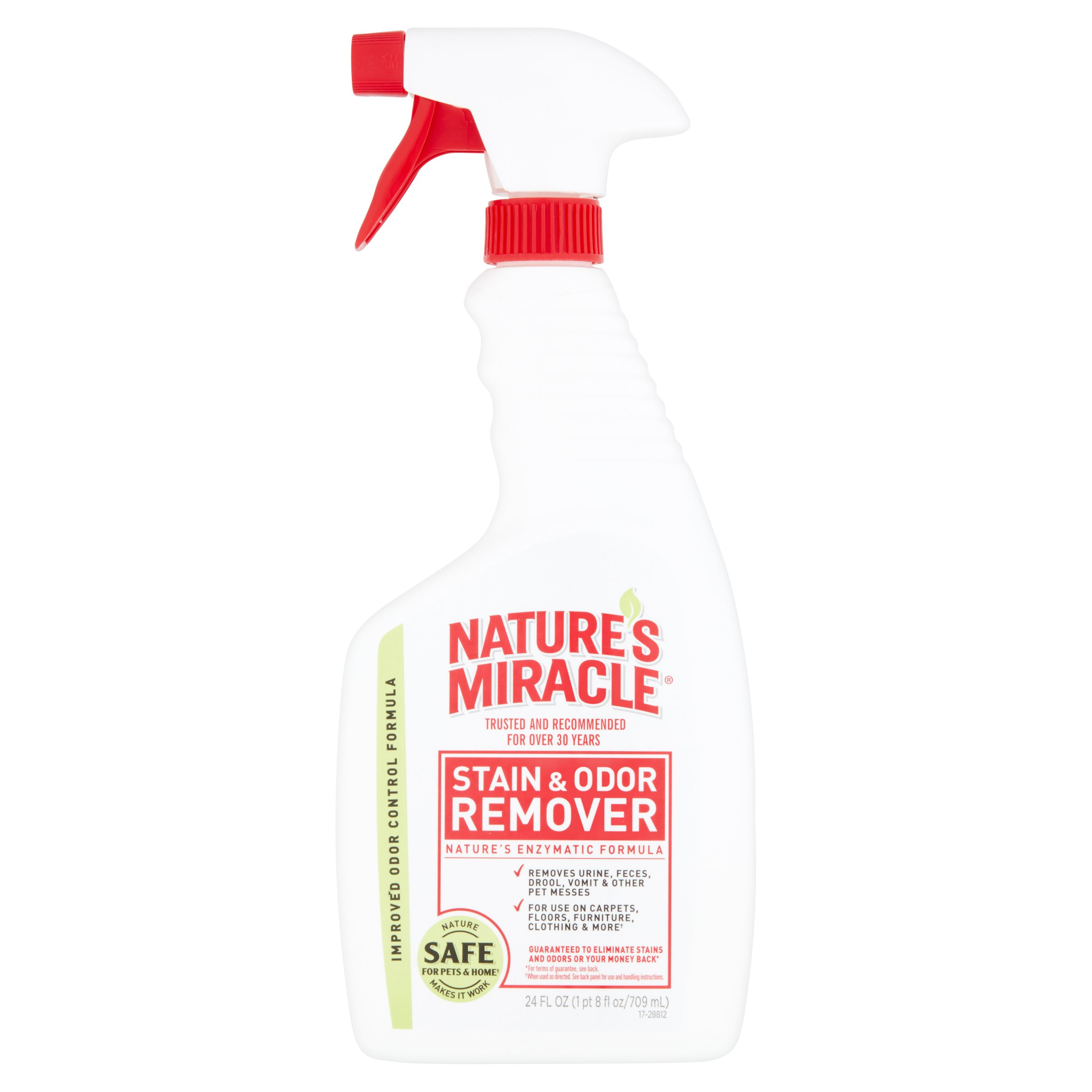 Nature's Miracle Stain & Odor Remover w/ Enzymatic Formula, 24 oz