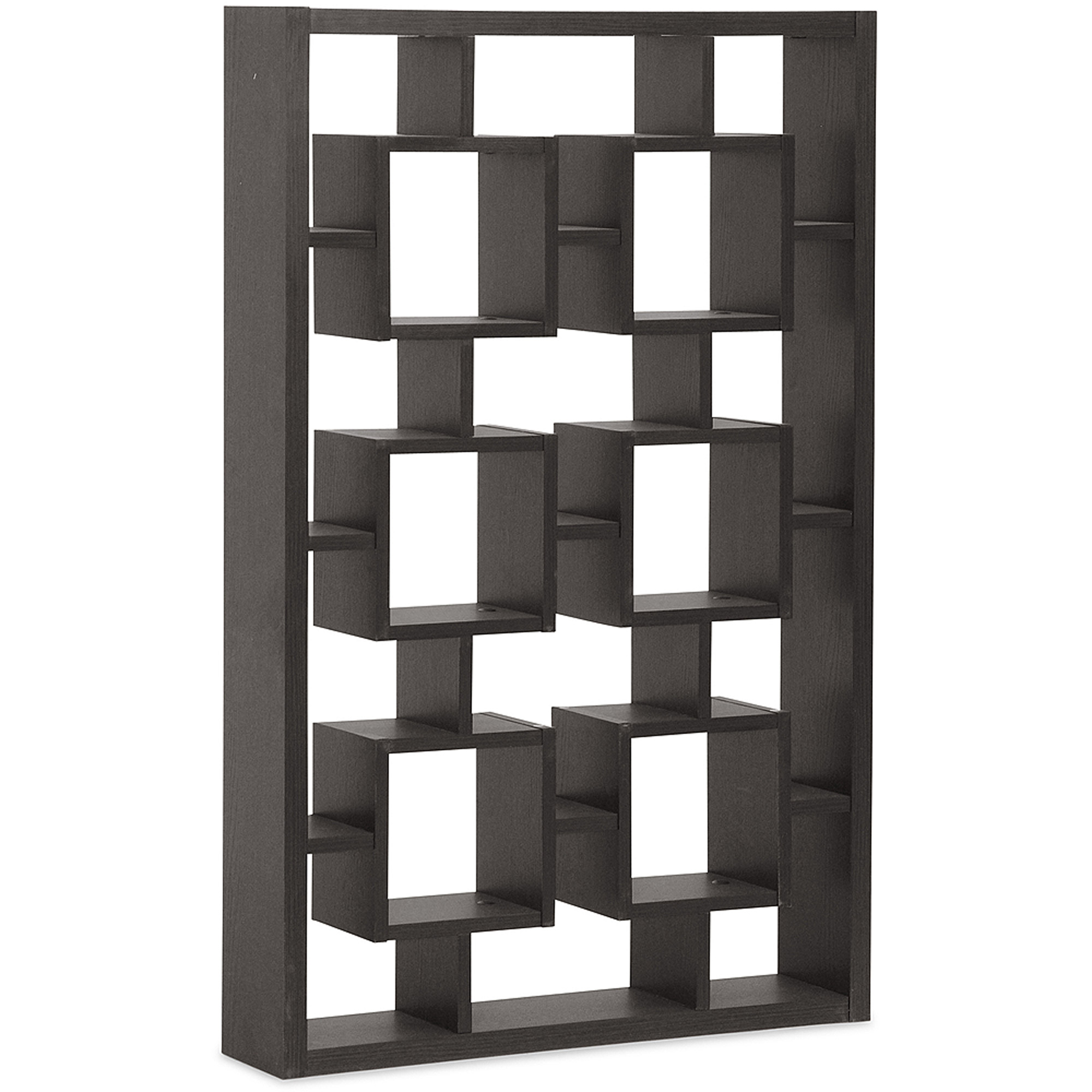 Eyer Dark Brown Modern Display Shelf