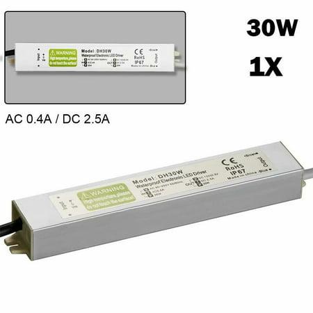 30W DC12V 2.5A Waterproof Transformer Power Supply Adapter LED Lights Driver (Lights Transformer Type)