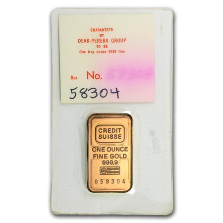 1 Oz Gold Bar   Credit Suisse  Deak Perera  In Assay