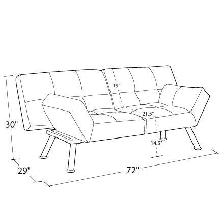 product measurements image mainstays contempo futon multiple colors   walmart    rh   walmart