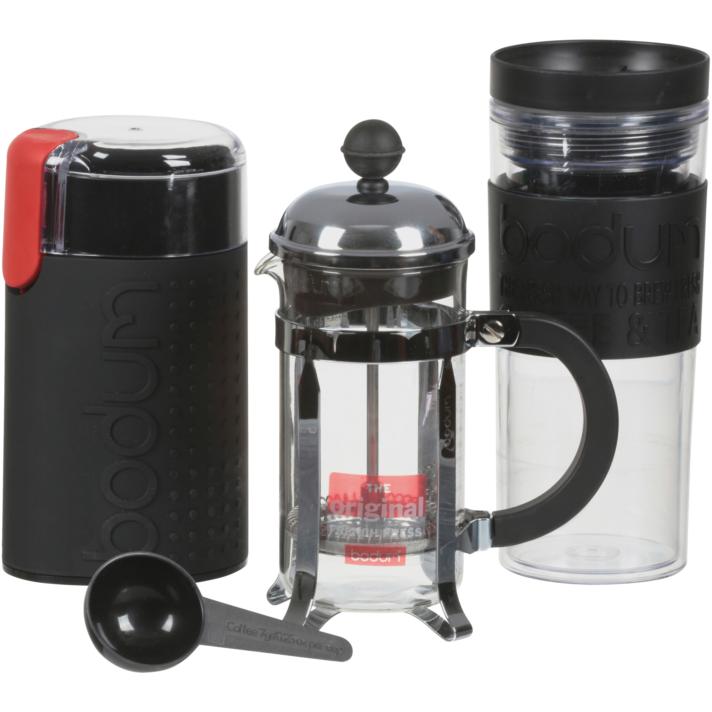 Bodum CHAMBORD Set, French Press Coffee Maker,Electric Coffee Grinder, Mug