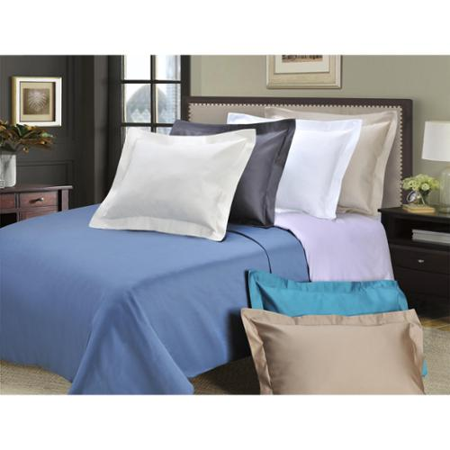 1000 Thread Count Cotton 3-piece Solid Duvet Cover Set Full/Queen - Taupe