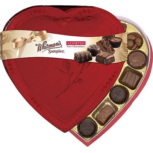 Whitman's Valentine Sampler Assorted Fine Chocolates, 13.2 oz