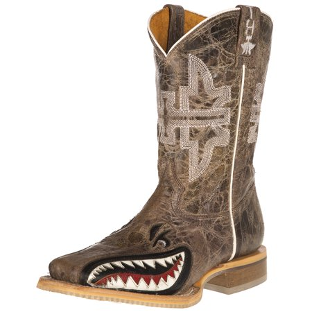 Tin Haul Footwear Boys  Tin Haul Sharky Man Eater Brown Top Boots