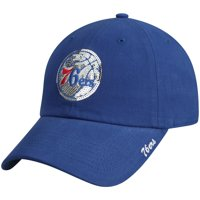 Women's Royal Philadelphia 76ers Sparkle Adjustable Hat - OSFA