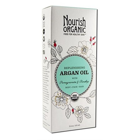 Nourish Organic Argan Oil, Replenishing, with Pomegranate & Rosehip