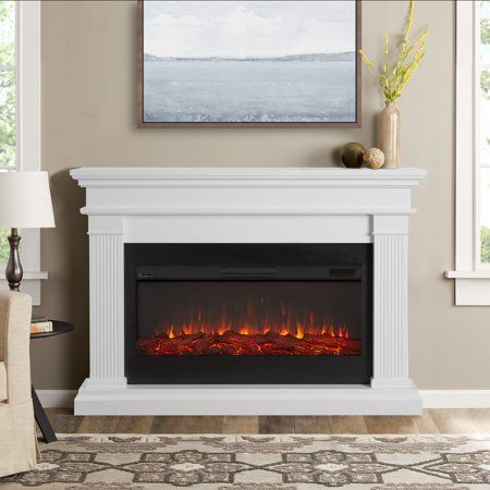 Beau Electric Fireplace in White by Real Flame ()