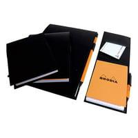 """Rhodia - R"""" Premium Stapled Notepad, Orange, Lined, 8 1/4 x 11 3/4"""""""