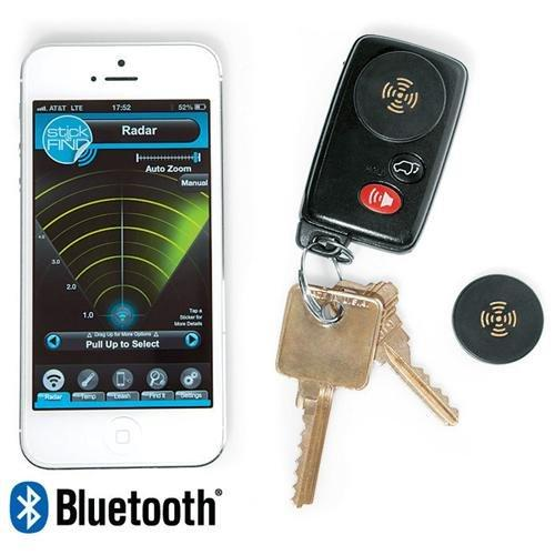 Smead Stick-n-find Bluetooth Location Tracker - Bluetooth - 2 / Pack - Black (02218_40)