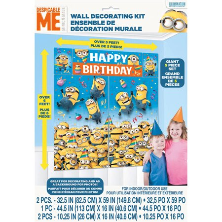 Despicable Me Minions Photo Backdrop & Wall Decoration, 6.25 x 5.5 ft, 1ct](Minion Birthday Decorations)