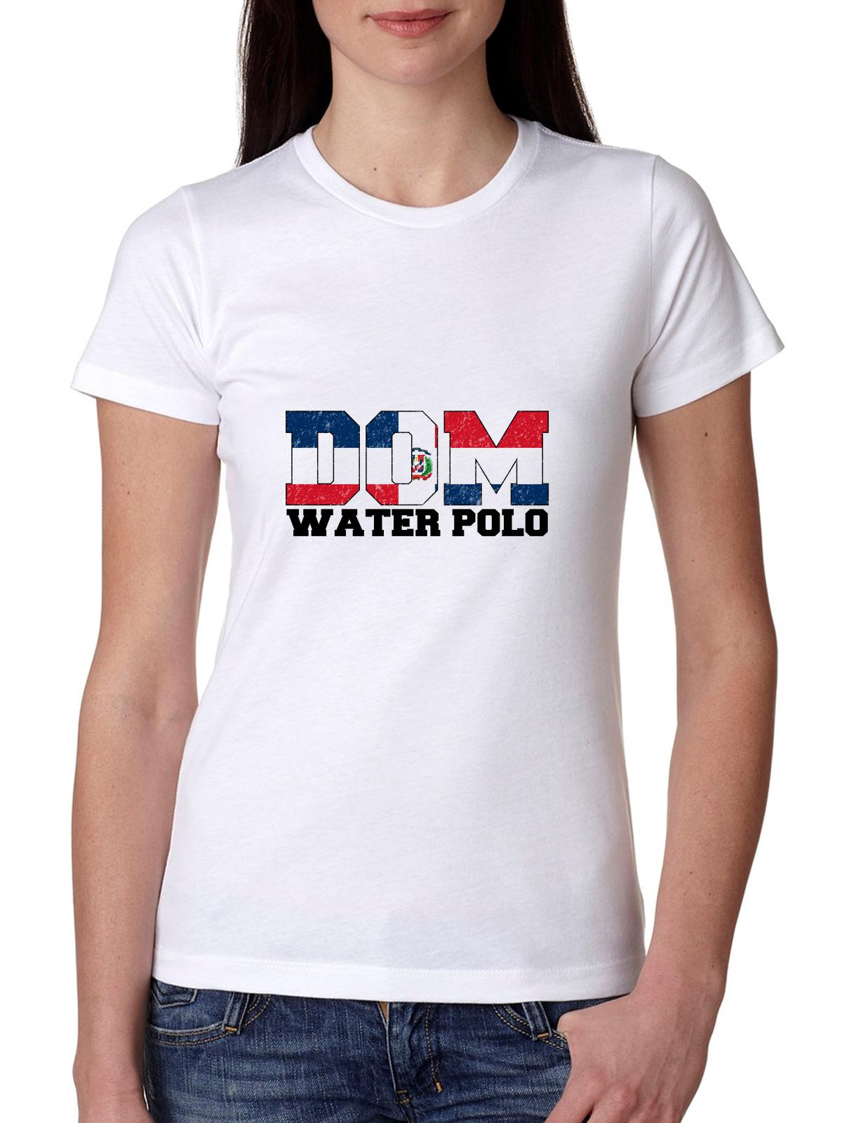 Olympic Water Polo Dominican Republic Women's Cotton T-Shirt by Hollywood Thread