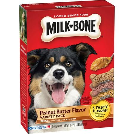 (3 pack) Milk-Bone Peanut Butter Flavor Dog Treats Variety Pack - Small/Medium - Halloween Treats With Peanut Butter Cups