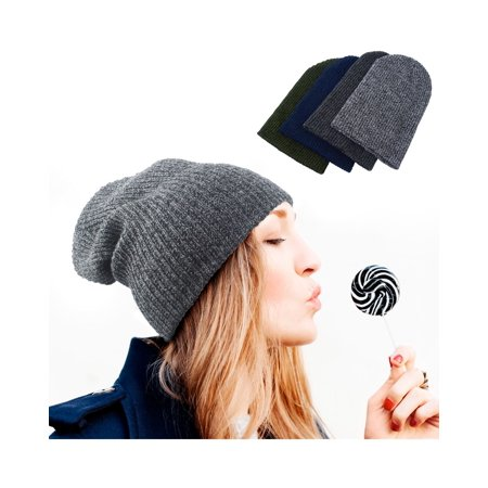 Beanie Hat for Women by Zodaca Chunky Soft Knit Unisex Hat Cap Slouchy Skully - Dark Gray](Grad Hat)