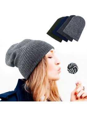 75ea4c87698 Product Image Beanie Hat for Women by Zodaca Chunky Soft Knit Unisex Hat Cap  Slouchy Skully - Dark