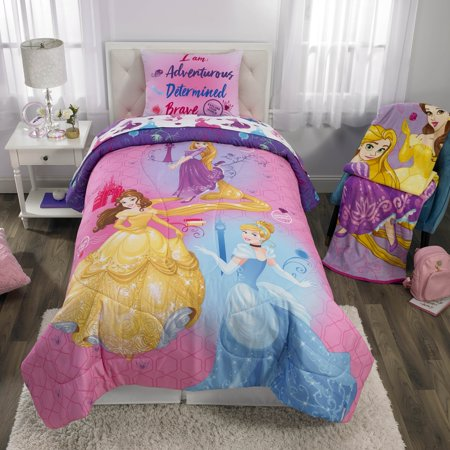 Disney Princess Kids Bedding Bed in a Bag Set, Ready to (Princess Bedding Collection)