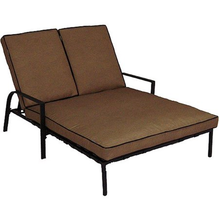 Mainstays Braddock Heights Ii Double Chaise Lounge  Seats 2