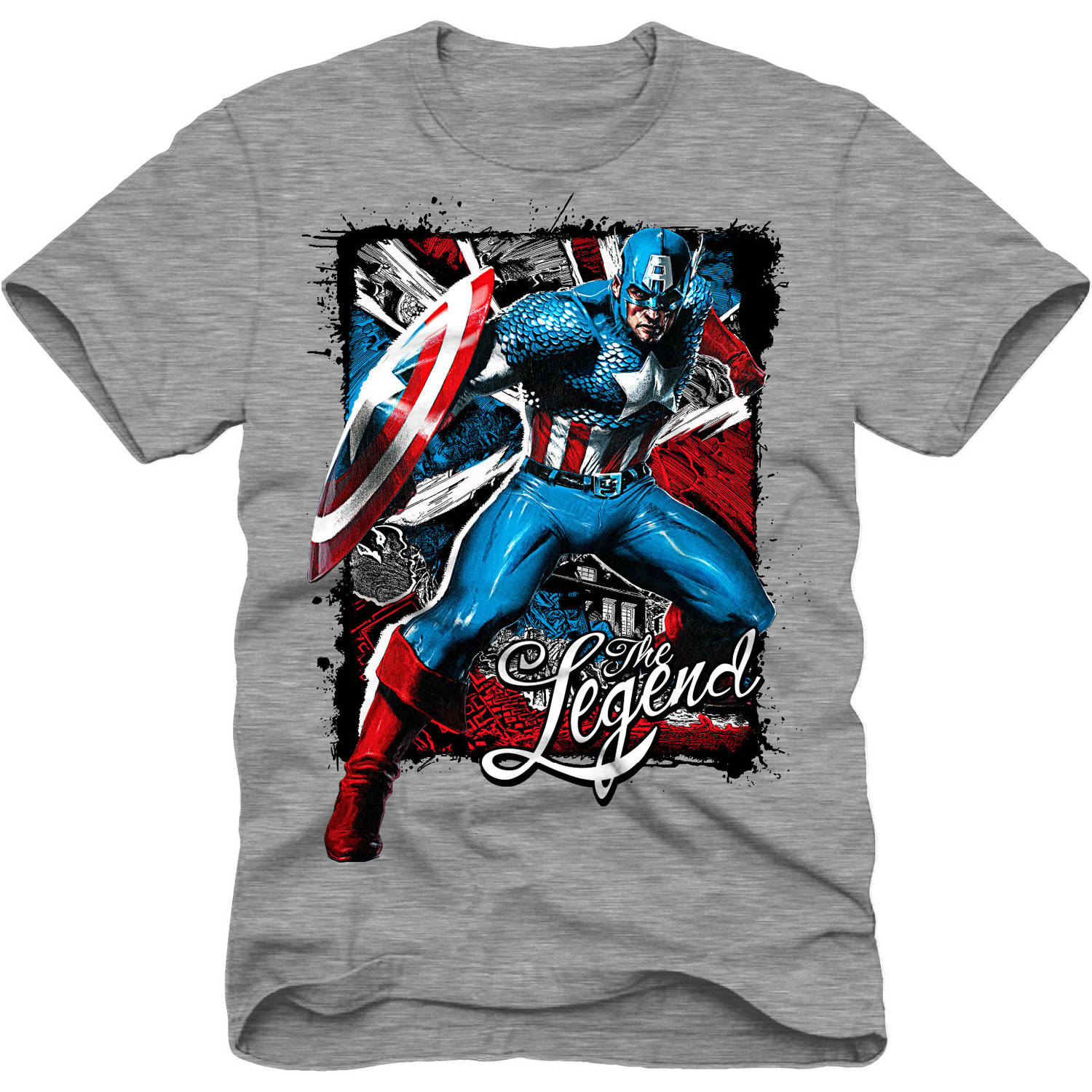 Marvel Captain America The Legend Boys Short Sleeve Graphic Tee
