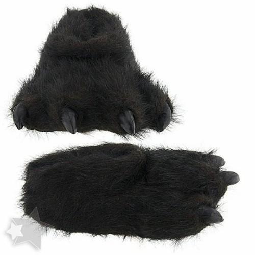 "Furry Black Slippers 15"" by Wishpets - 55320"