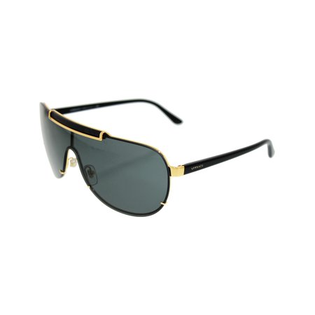 Men's VE2140-100287-40 Gold Aviator Sunglasses ()