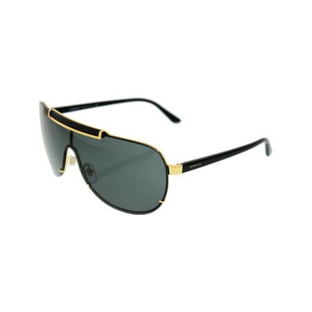 Men's VE2140-100287-40 Gold Aviator (Versace Sunglasses 2140)