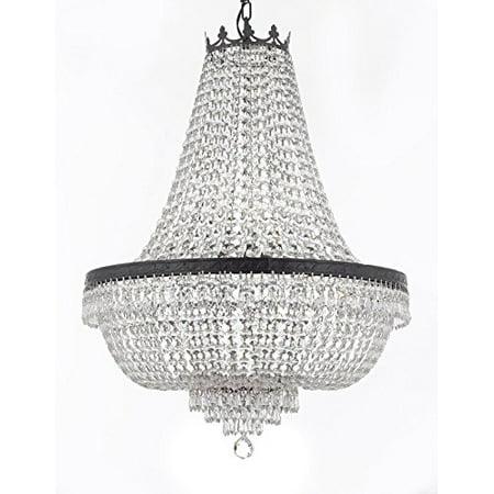 Crystal Chandelier With Dark Antique Finish 9 Lights