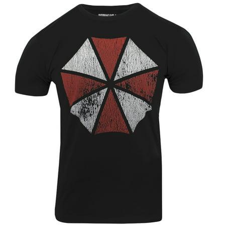 Capcom Resident Evil Umbrella Cotton Blend Premium Fitted T-Shirt - Black (Umbrella Corp T-shirt)