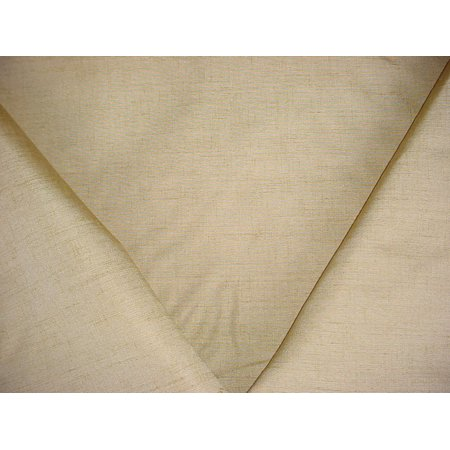 Silk Cotton Faille - 42H2 - Antique Gold Silk / Linen Woven Faille Strie Designer Upholstery Drapery Fabric - By the Yard
