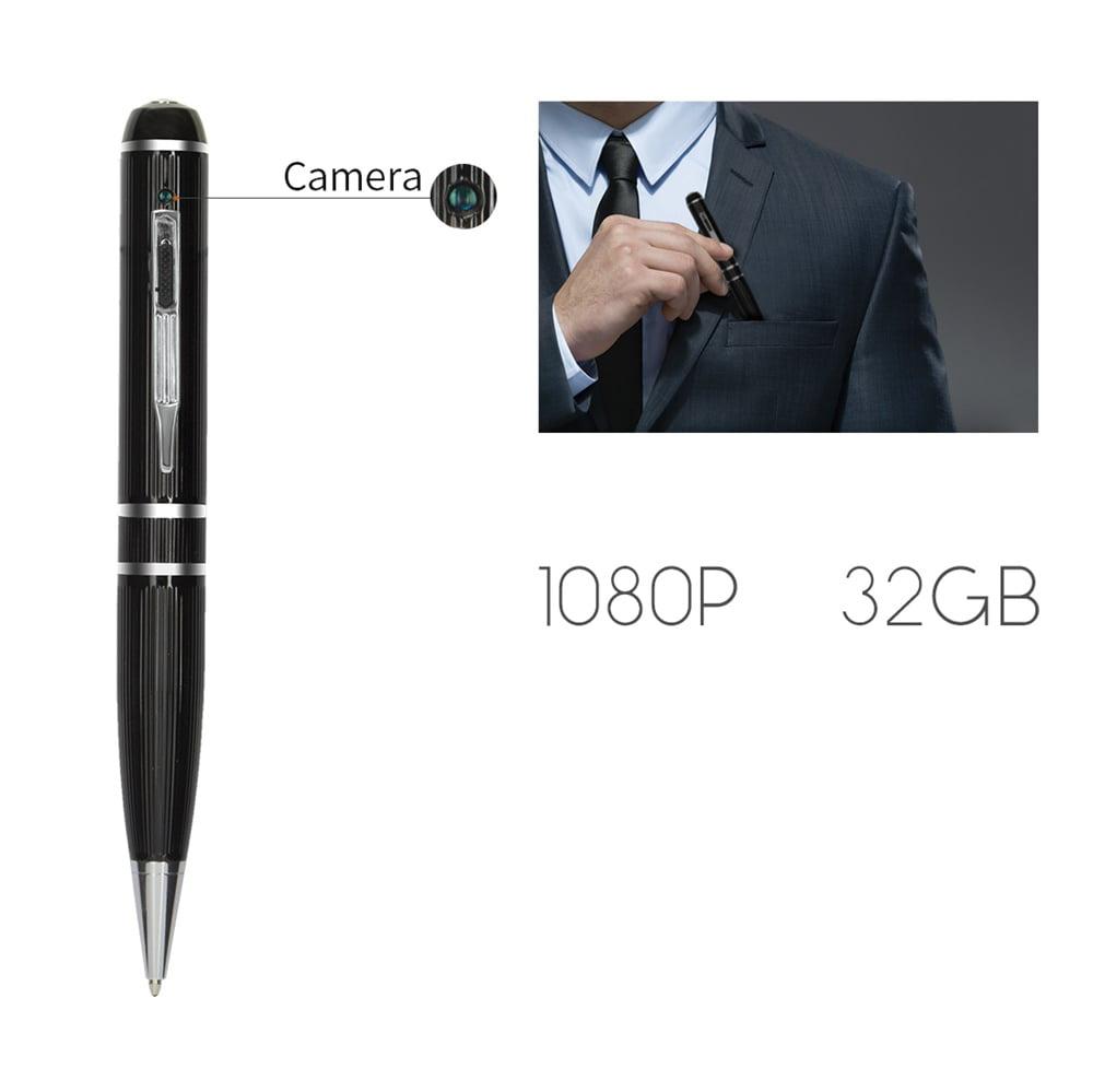 FREDI SPY Camera Pen 32GB 1080P HD Mini Portable Hidden Wireless ...