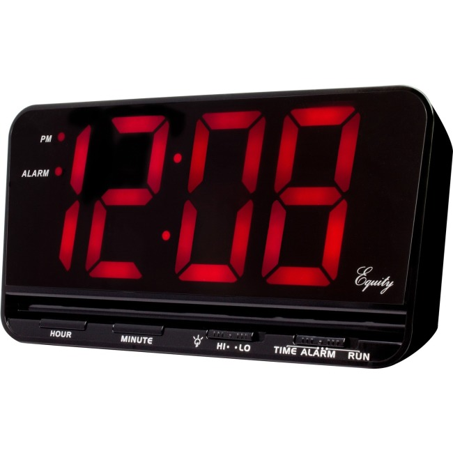 "La Crosse Extra-Large 3"" LED Electric Alarm Clock with Hi/Lo settings"
