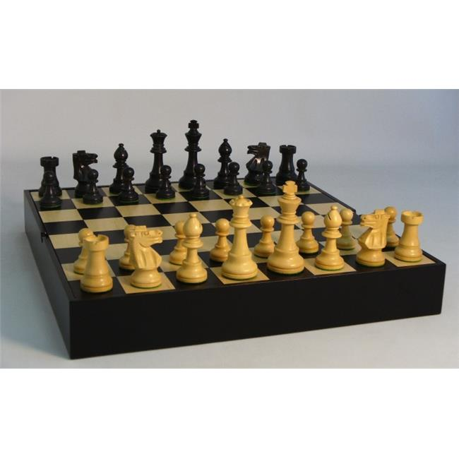 WW Chess 37BF-BCT Black French on Black-Maple Chest